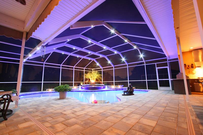 LED Enclosure Lighting & Housmanu0027s Aluminum u0026 Screening Inc. - Pool u0026 Screen u0026 Patio ... azcodes.com